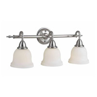Montpellier 3 Light 11 inch Satin Nickel Bath Bar Wall Light