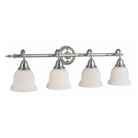 Montpellier 4 Light 9 inch Satin Nickel Semi Flush Mount Ceiling Light