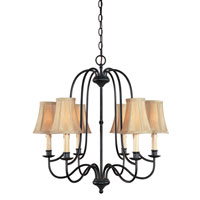 World Import Designs Brondy 6 Light Chandelier in Aged Ebony 3746-34
