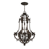World Import Designs Salerno 12 Light Chandelier in Bronze 4039-89