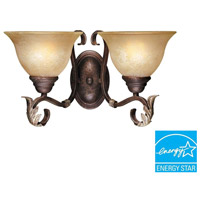 Olympus Tradition 2 Light 12 inch Crackled Bronze/Silver Wall Sconce Wall Light