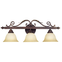 Olympus Tradition 3 Light 30 inch Crackled Bronze/Silver Bath Bar Wall Light
