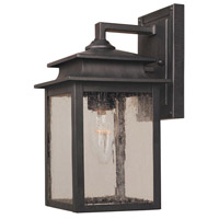 Sutton 1 Light 11 inch Rust Outdoor Wall Sconce