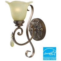 Catania 1 Light 10 inch Crackled Bronze/Silver Wall Sconce Wall Light