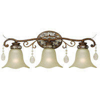 Catania 3 Light 26 inch Oxide Bronze/Silver Bath Bar Wall Light