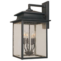 Sutton 4 Light 22 inch Rust Outdoor Wall Sconce