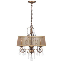 Belle Marie 3 Light 21 inch Antique Gold Chandelier Ceiling Light
