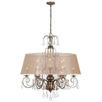 Belle Marie 12 Light 35 inch Antique Gold Chandelier Ceiling Light