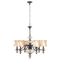 Chambord 8 Light 10 inch Weathered Copper Chandelier Ceiling Light