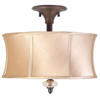 Chambord 3 Light 16 inch Weathered Copper Semi-Flush Mount Ceiling Light