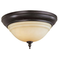 Montpellier 2 Light 13 inch Oil Rubbed Bronze Bath Flush Mount Ceiling Light