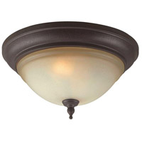 Olympus Tradition 2 Light 13 inch Crackled Bronze/Silver Flush Mount Ceiling Light