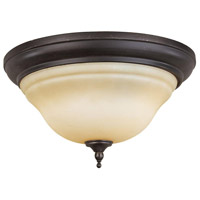 Montpellier 2 Light 15 inch Oil Rubbed Bronze Flush Mount Ceiling Light