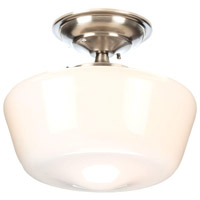 Luray 1 Light 9 inch Brushed Nickel Semi-Flush Mount Ceiling Light