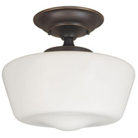 Luray 1 Light 9 inch Oil Rubbed Bronze Semi-Flush Mount Ceiling Light