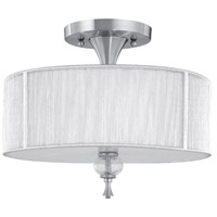 Bayonne 3 Light 17 inch Brushed Nickel Semi-Flush Mount Ceiling Light