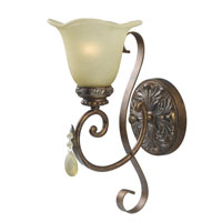 World Import Designs Catania 1 Light Wall Sconce in Oxide Bronze with Silver 4761-60