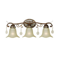 Catania 3 Light 24 inch Oxide Bronze with Silver Bath Light Wall Light