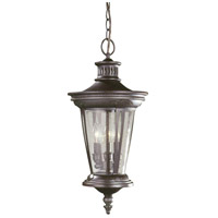 North Hampton 3 Light 12 inch Bronze Outdoor Hanging Lantern