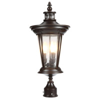 North Hampton 3 Light 26 inch Bronze Outdoor Post Lantern