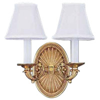 Monticello 2 Light 6 inch Gold Wall Sconce Wall Light