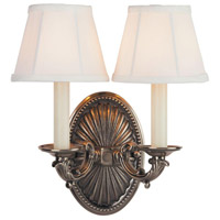 Monticello 2 Light 6 inch Pewter Wall Sconce Wall Light