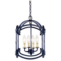Hastings 4 Light 6 inch Rust Lantern Ceiling Light