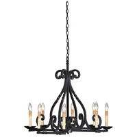 Rennes 8 Light 29 inch Rust Chandelier Ceiling Light