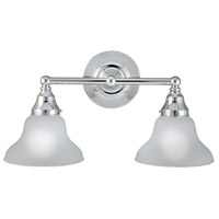 Asten 2 Light 19 inch Chrome Semi-Flush Bath Bar Wall Light