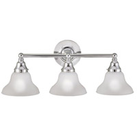 Asten 3 Light 25 inch Chrome Semi-Flush Bath Bar Wall Light
