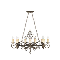 World Import Designs Sheffield 12 Light Island Light in French Bronze 5029-63 photo thumbnail