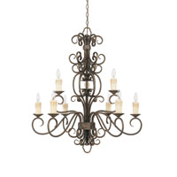 World Import Designs Sheffield 9 Light Chandelier in French Bronze 5049-63 photo thumbnail