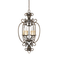 Sheffield 6 Light 19 inch French Bronze Foyer Ceiling Light