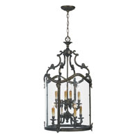 World Import Designs Venezia 8 Light Pendant in French Bronze 5156-63