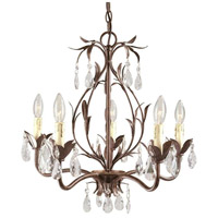 Bijoux 5 Light 22 inch Weathered Bronze Chandelier Ceiling Light