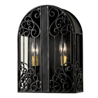 World Import Designs Sevilla 2 Light Outdoor Wall Lantern in Rust 5252-42