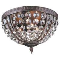 Bijoux 3 Light 13 inch Flemish Flush Mount Ceiling Light