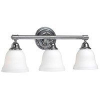 Ava 3 Light 21 inch Chrome Bath Sconce Wall Light
