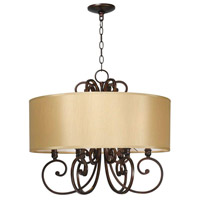 Rue Maison 6 Light 25 inch Euro Bronze Chandelier Ceiling Light