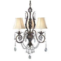 Berkeley Square 3 Light 16 inch Weathered Bronze Mini Chandelier Ceiling Light