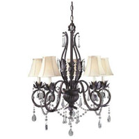 World Import Designs 751-62 Berkeley Square 5 Light 9 inch Weathered Bronze Chandelier Ceiling Light photo thumbnail