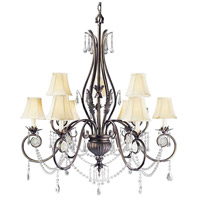 Berkeley Square 9 Light 35 inch Weathered Bronze Chandelier Ceiling Light
