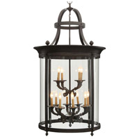 Chatham 12 Light 12 inch French Bronze Outdoor Foyer Lantern Ceiling Light