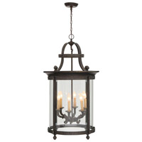 Chatham 6 Light 12 inch French Bronze Outdoor Chandelier Lantern Ceiling Light