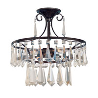 World Import Designs Lille 3 Light Semi-Flush Mount in Bronze 5873-89
