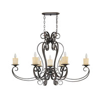 Stafford Spring 7 Light 28 inch Dark Antique Bronze Pendant Ceiling Light