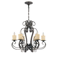 World Import Designs Stafford Spring 6 Light Chandelier in Dark Antique Bronze 5946-97