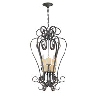 World Import Designs Stafford Spring 6 Light Foyer in Dark Antique Bronze 5956-97