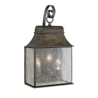 World Import Designs Revere 3 Light Outdoor Wall Lantern in Flemish 61313-06 photo thumbnail