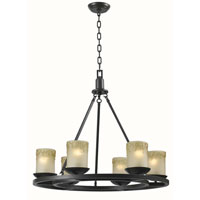 World Import Designs Colchester 6 Light Chandelier in Oiled Rubbed Bronze 6136-88